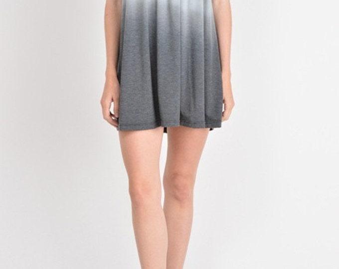 Women's Mini Dress, Spaghetti Strap Dress, Dip Dye Dress in Joanne