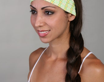 Women and girls green yoga, fitness, running and workout headband in Genesis