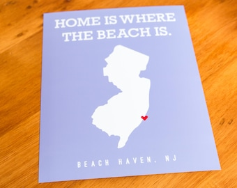 Beach Haven - Home Is Where The Beach Is - Art Print  - Your Choice of Size & Color!