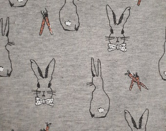 Kittybeanie jersey with silk lining *Special edition light grey with rabbit*