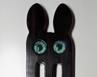 CUSTOM ORDER Hair fork bunny made of wood 3-zinc