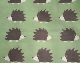 Kittybeanie jersey with silk lining *special edition light green with hedgehogs*