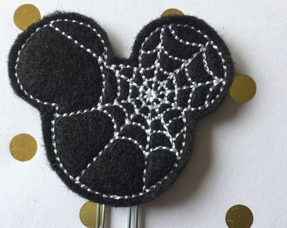 Spider Mouse planner Clip/Bookmark. Character Planner Clip. Mouse Planner Clip. Halloween planner clip. Spider Planner Clip