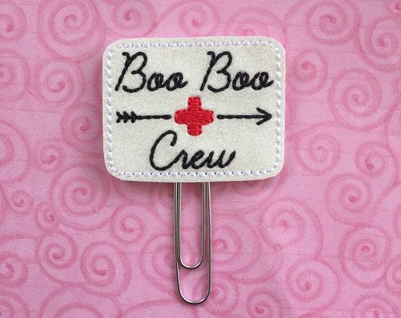 Glitter Boo Boo Crew planner Clip/Planner Clip/Bookmark. Doctor Planner Clip. Medical Planner Clip. Nurse Planner Clip