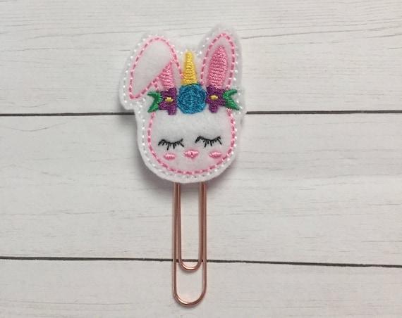 Unicorn Bunny Clip/Planner Clip/Bookmark. Bunny Planner Clip. Unicorn Planner Clip. Easter Planner Clip. Spring Planner Clip. Floral Planner