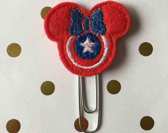 Captain Mouse planner Clip/Planner Clip/Bookmark. Captain Planner Clip. Mouse Planner Clip. Hero Planner Clip. Character planner clip