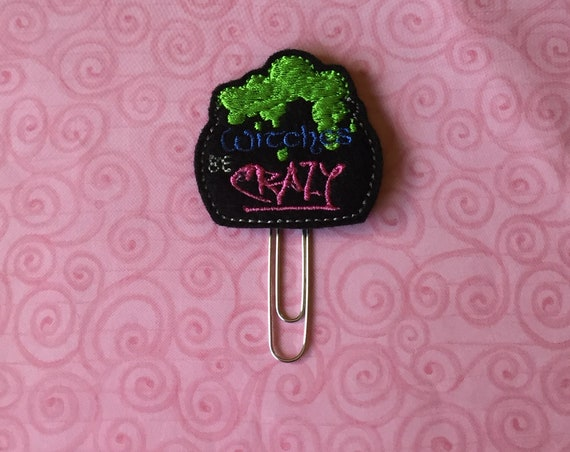 Witches Be Crazy Planner Clip/Paper Clip/Feltie Clip. Witch Planner Clip. Halloween Planner Clip. Cauldron Planner Clip. Snarky Planner Clip