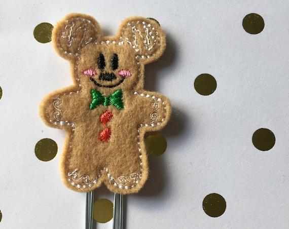Full Body Ginger Mouse planner Clip/Planner Clip/Bookmark. Gingerbread Planner Clip. Ginger Boy Planner Clip. Christmas Planner Clip
