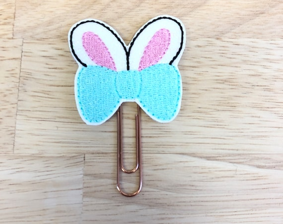Bunny Bow planner Clip/Planner Clip/Bookmark. Easter Planner Clip. Bunny Planner Clip. Easter bunny planner clip. Bow Planner Clip