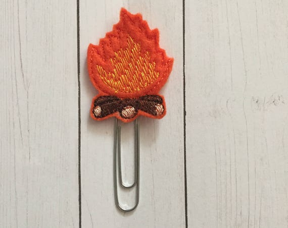 Campfire Clip/Planner Clip/Bookmark. Camping Planner Clip. Adventure Planner Clip