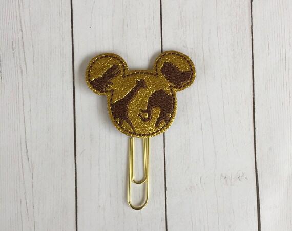 Glitter Safari Mouse Clip/Planner Clip/Bookmark. Mouse Planner Clip. Animal Kingdom Planner Clip. WDW planner clip. Safari Planner Clip