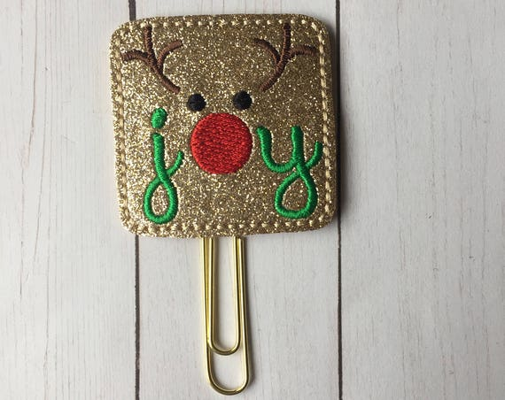 Glitter Joy Reindeer planner Clip/Planner Clip/Bookmark. Reindeer Planner Clip. Joy Planner Clip. Christmas Planner Clip. Holiday Clip
