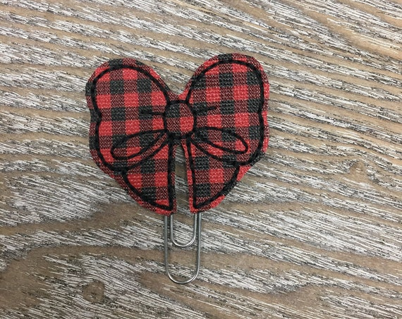 Buffalo Plaid Vinyl Bow planner Clip/Planner Clip/Bookmark. Bow Planner Clip. Buffalo Plaid planner clip. Buffalo Plaid Bow. Plaid Planner