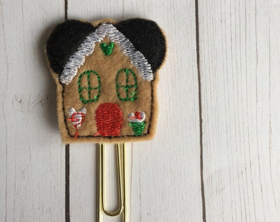 Mr Mouse Gingerbread House planner Clip/Planner Clip/Bookmark. Gingerbread Planner Clip. Mouse Planner Clip. Holiday Planner Clip