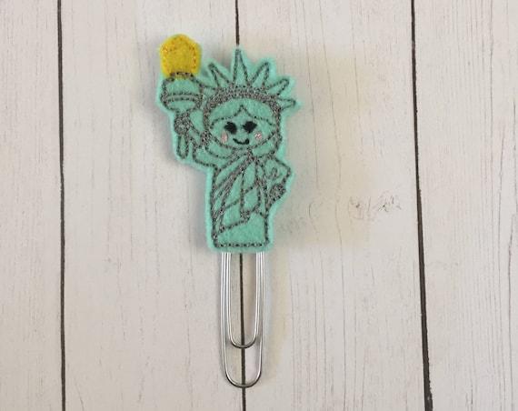 Lady Liberty Planner Clip/Planner Clip/Bookmark. Statue Of Liberty Planner Clip. USA Planner Clip. Patriotic Planner Clip