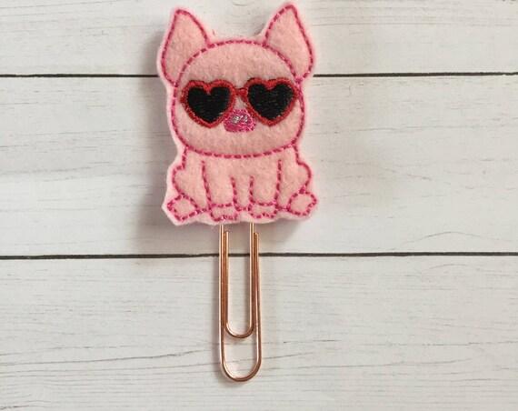 Valentine Pig planner Clip/Planner Clip/Bookmark. Pig Planner Clip. Love Planner Clip. Valentine Planner Clip. Valentines Clip.