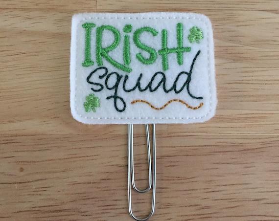 Irish Squad Clip/Planner Clip/Bookmark. Pinch Planner Clip. St Patrick's Day Planner Clip. Squad Planner Clip. Clover Planner Clip