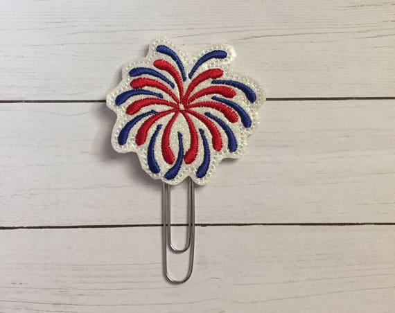 Glitter Fireworks Planner Clip/Planner Clip/Bookmark. Patriotic Planner Clip. 4th of July Clip. Glitter Planner Clip. Easter Planner