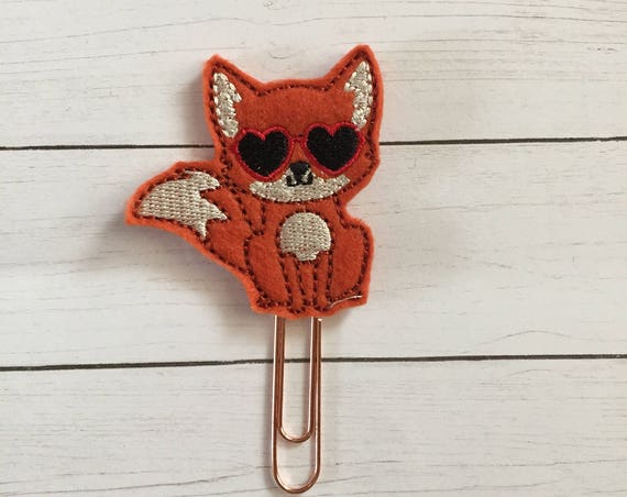 Valentine Fox planner Clip/Planner Clip/Bookmark. Fox Planner Clip. Love Planner Clip. Valentine Planner Clip. Valentines Clip.