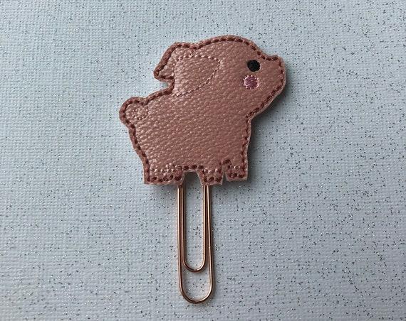 Vinyl Pig planner Clip/Planner Clip/Bookmark. Pig Planner Clip. Animal Planner Clip. Farm Animal Planner Clip