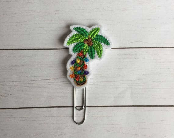 Tropical Palm Tree planner Clip/Planner Clip/Bookmark. Christmas Tree Planner Clip. Tropical Planner Clip. Christmas. Tropical Christmas