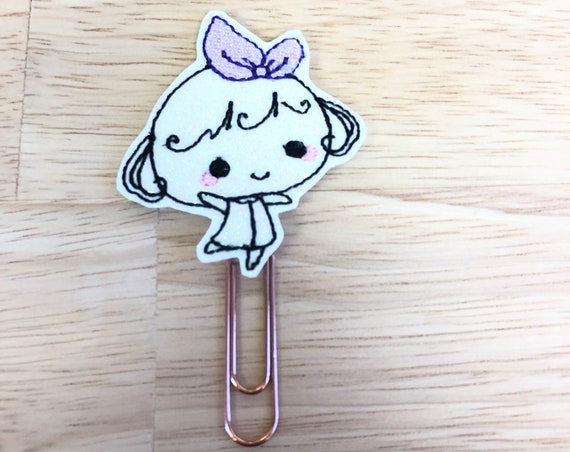 Glitter Vinyl Happy Lolly Girl Planner Clip/Planner Clip/Bookmark. Lolly Planner Clip. Girl Planner Clip.