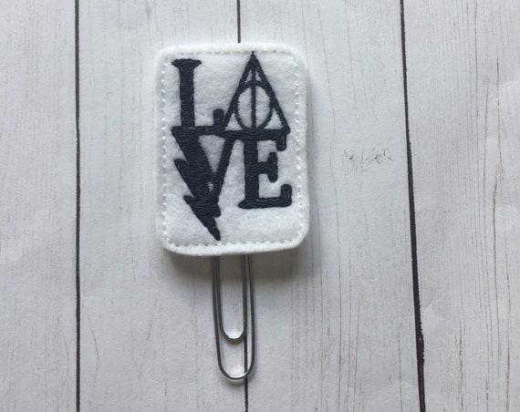 HP Love Clip/Planner Clip/Bookmark. Harry Potter Planner Clip. Wizard Planner Clip. Potter Planner Clip