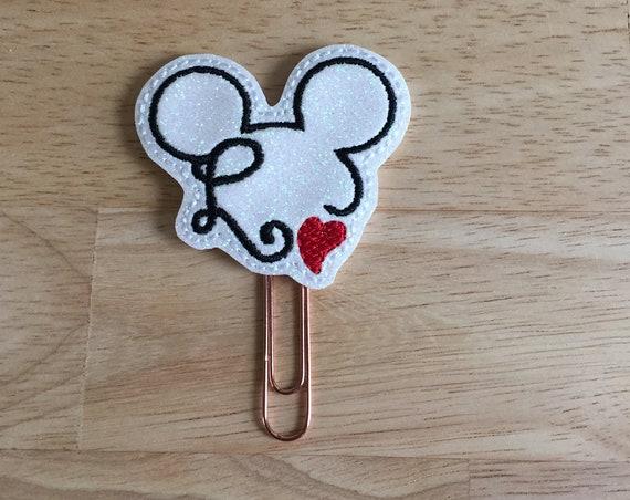 Glitter Mouse Love Clip/Planner Clip/Bookmark. Mouse Planner Clip. Love Planner Clip. Heart Planner Clip. Valentine Planner Clip
