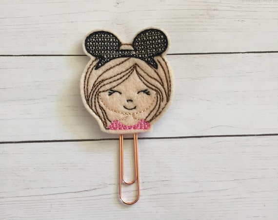 Girl With Mouse Ears Planner Clip/Planner Clip/Bookmark. Disney Girl Planner Clip. Mouse Ear Planner Clip. Girl Planner Clip