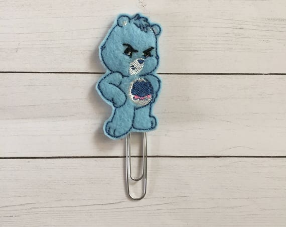 Bad mood bear Planner Clip/Bookmark. Bear Planner Clip. Character Planner Clip