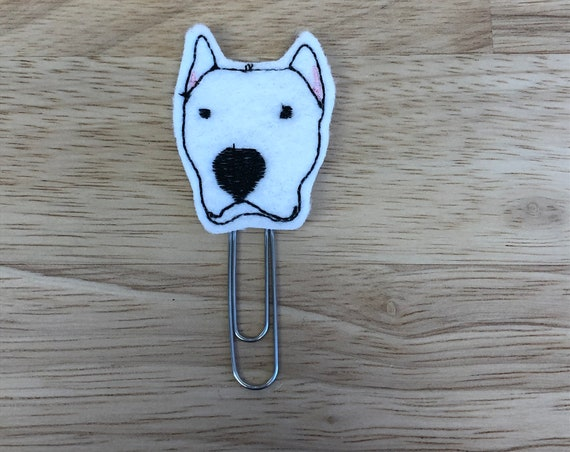 Argentino Dog Face planner Clip/Planner Clip/Bookmark.  Dog Planner Clip. Animal Planner Clip. Pet Planner Clip