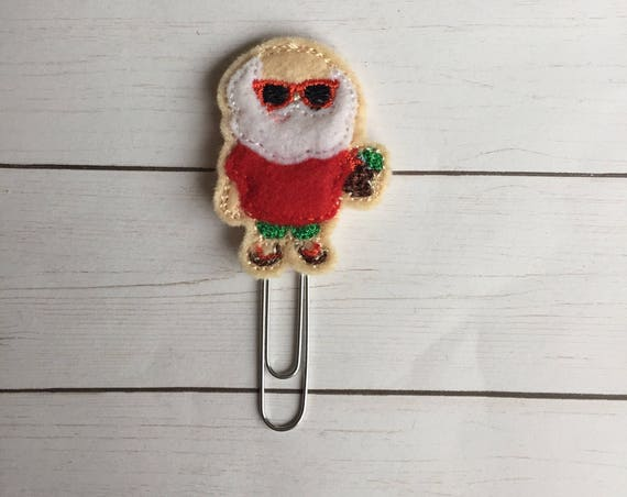 Tropical Santa planner Clip/Planner Clip/Bookmark. Santa Planner Clip. Tropical Planner Clip. Christmas Planner Clip. Tropical Christmas