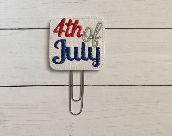 Fourth Of July Planner Clip/Planner Clip/Bookmark. Patriotic Planner Clip. 4th of July Clip. Glitter Planner Clip. Easter Planner