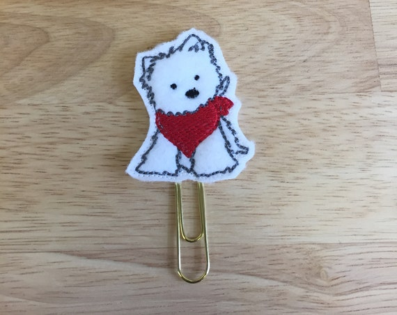 Dog With Red Bandana Planner Clip. Dog Planner Clip. Animal Planner Clip