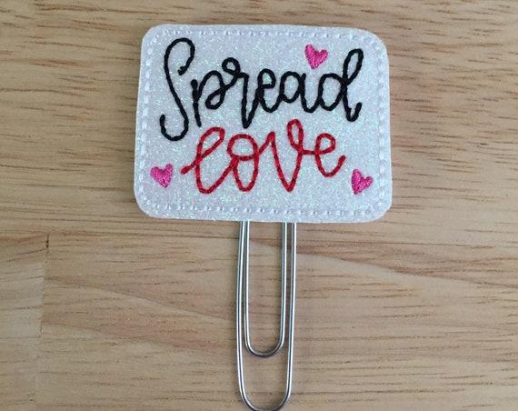 Spread Love Clip/Planner Clip/Bookmark. Valentine Planner Clip. Kiss Planner Clip. Love Planner Clip. Glitter Planner