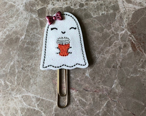 Ghost With Coffee Clip/Planner Clip/Bookmark. Coffee Planner Clip. Ghost Planner Clip. Halloween Planner Clip. Fall Planner