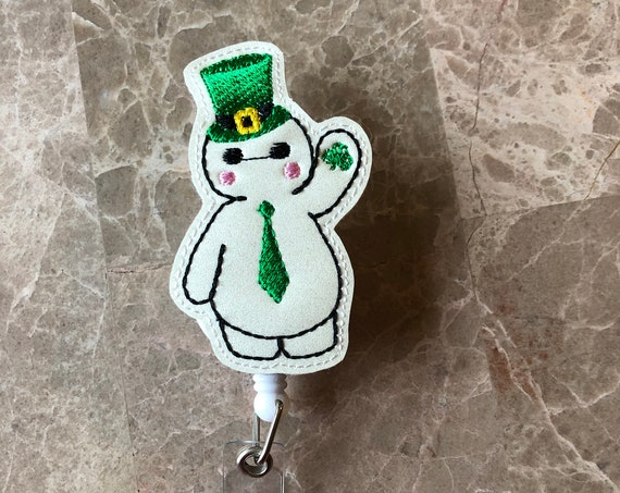 St Patrick Bayman Badge Reel/ Badge Reel/Nurse Badge Reel. St Patrick's Day badge reel. Bayman Hero Badge Reel.