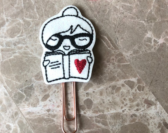 Glitter Love To Read Planner Clip/Paper Clip/Feltie Clip/Bookmark. Book Planner Clip. Love To Read.