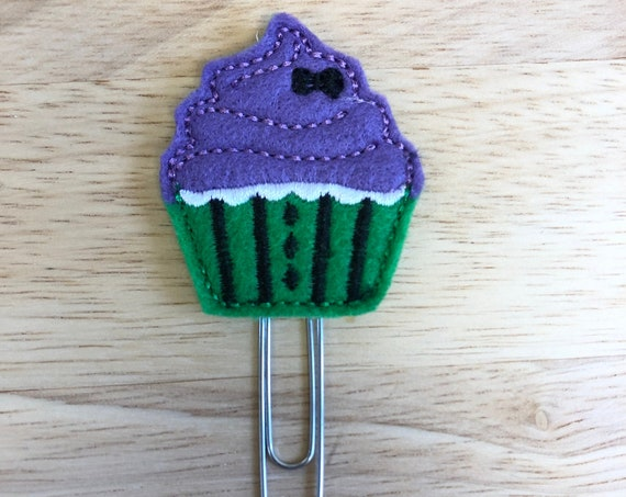 Haunted Cupcake planner Clip/Planner Clip/Bookmark. Halloween planner clip. Cupcake planner clip. Haunted Planner Clip