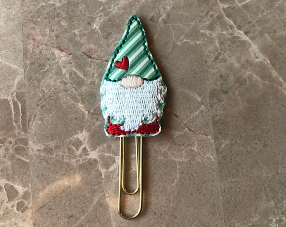Holiday Gnome planner Clip/Planner Clip/Bookmark. Christmas Planner. Gnome Planner Clip. Christmas Planner Clip. Christmas gnome