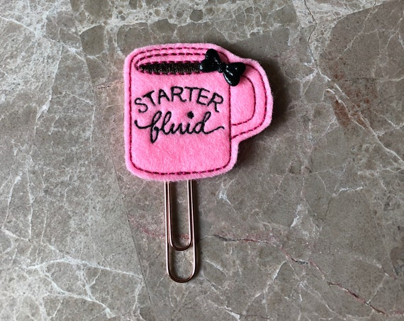 Starter Fluid Coffee Cup Planner Clip. Coffee Cup Planner Clip. Coffee Planner Clip. Coffee Mug