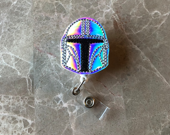 Holo Helmet Badge Reel/ Badge Reel/Nurse Badge Reel. Star Wars Badge Reel