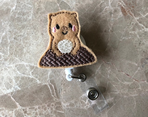 Groundhog Badge Reel/ Badge Reel/Nurse Badge Reel. Groundhog Day Badge Reel