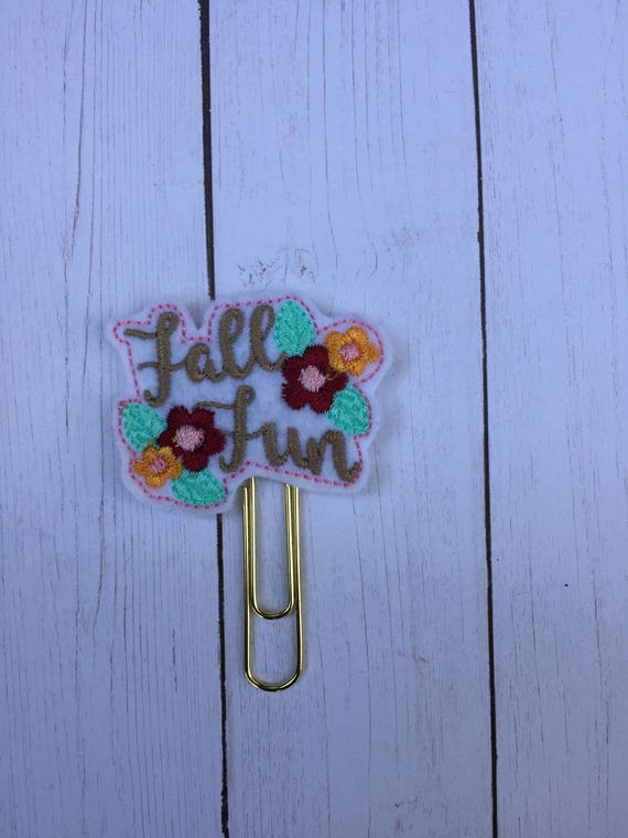 Floral Fall Fun Clip/Planner Clip/Bookmark. Fall Planner Clip. Autumn Planner Clip. Harvest Planner Clip. Floral Planner Clip. Rosegold clip