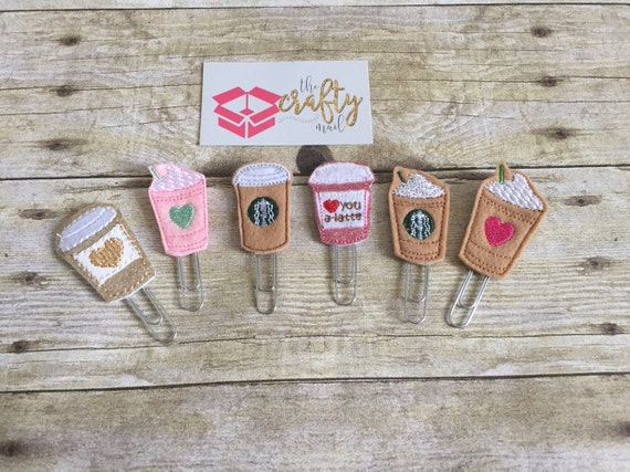 Coffee Addict Paper Planner Clips set of 6