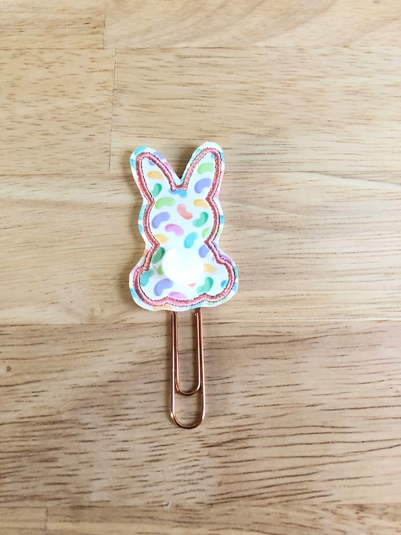 Pink Jelly Bean Bunny Butt Planner Clip. Easter Planner Clip. Bunny Planner Clip. Happy Easter Planner Clip. Spring Planner Clip.