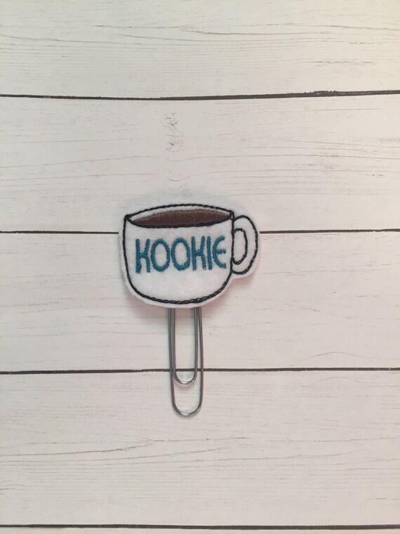 Kookie Coffee Clip/Planner Clip/Bookmark. Kookie Planner Clip. Coffee Planner Clip. Sassy Planner Clip