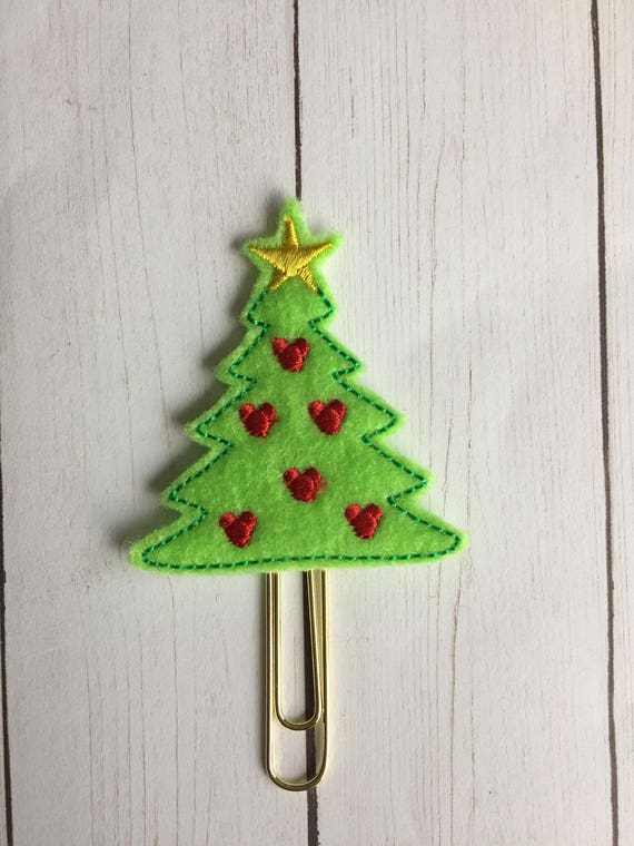 Mouse Christmas Tree planner Clip/Planner Clip/Bookmark. Tree Planner Clip. Mouse Planner Clip. Christmas planner clip. Holiday planner clip