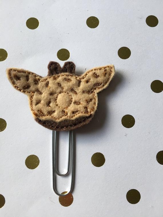 Giraffe Donut planner Clip/Planner Clip/Bookmark. Donut Planner Clip. Giraffe Planner Clip. Animal Planner Clip