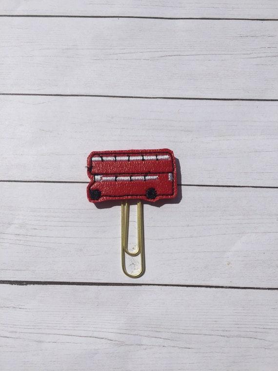 Vinyl Double Decker Bus Clip/Planner Clip/Bookmark. London Planner Clip. Bus Planner Clip. Double Decker Planner Clip